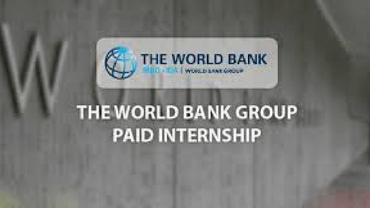 Stage  rémunéré par la Banque mondiale 2021