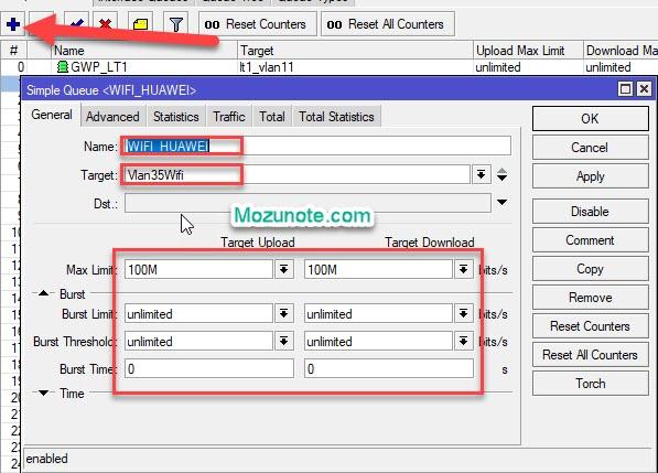 Cara Cepat dan Otomatis membuat queue simple Limit bandwidth di Mikrotik