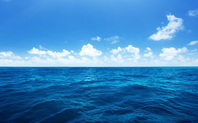 Why is Sea Blue? This is odd thing because sea is wet & spread out under the sun. It ought to be green with plants as the land but it is not.