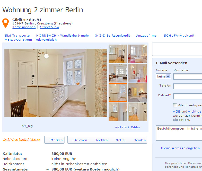 Wohnungsbetrug.blogspot.com: Wohnung 2 Zimmer Berlin