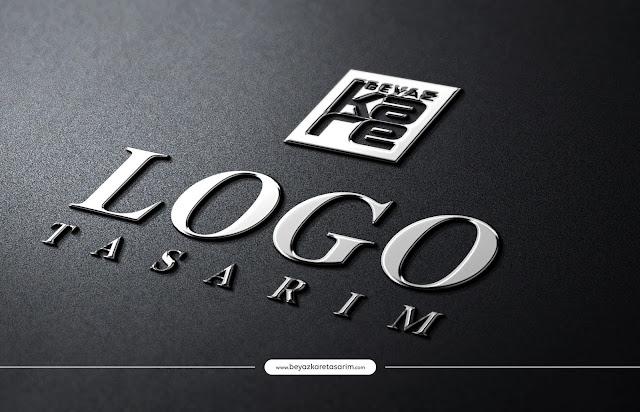 3D logo tasarımı gümüş efekti