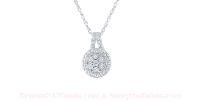 JCPENNY LIMITED TIME SPECIAL! 1/10 CT. T.W. Genuine Diamond Pendant Necklace in Sterling Silver