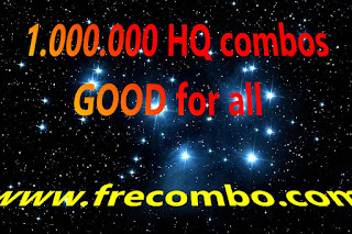 1.000.000 HQ combos GOOD for all [STREAMING,MUSIC,GAMING,PORN...]