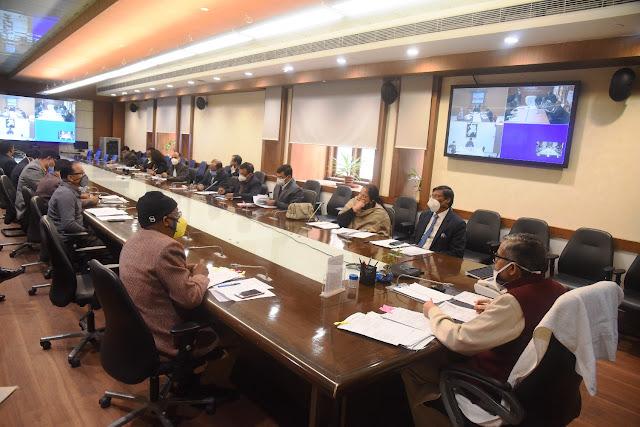 Review meeting of Chief Secretary RK Tiwari