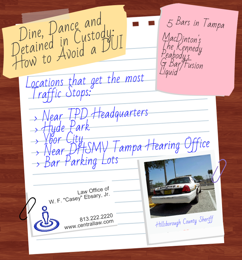 Avoiding DUIs in Tampa from WF Casey Ebsary Jr 813.222.2220