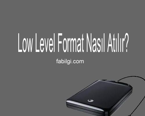 Harici Hard Disk, USB Low Level Format Nasıl Atılır?