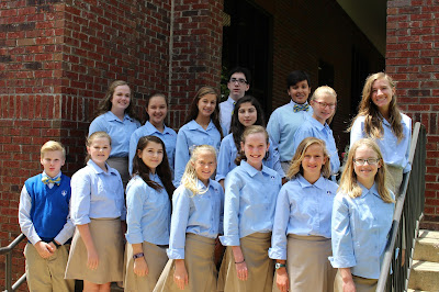 Knight Ambassadors Named at Montgomery Catholic's Middle School Campus 1