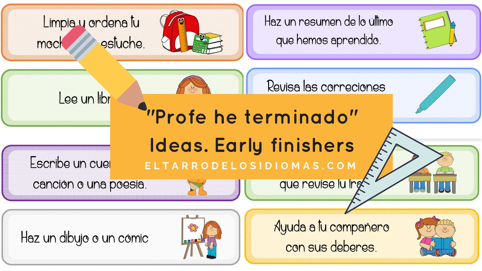 ideas para trabajar en clase. ideas para organizar en clase de primaria. para alumnos que terminan antes las actividades