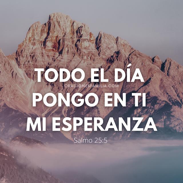 versiculo oracion salmo 25 para la noche