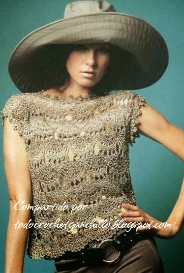 Hermoso top crochet