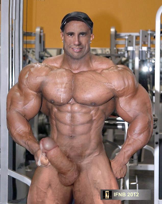 body Bodybuilder male building nude