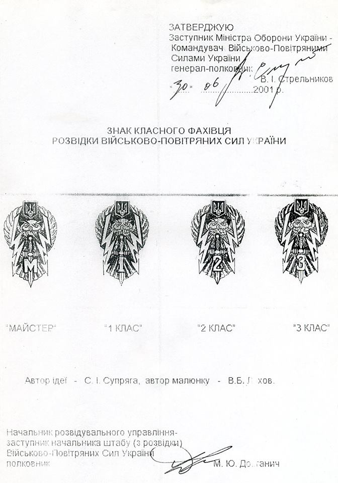 Історія створення нагрудних знаків і знаків класності ВПС України