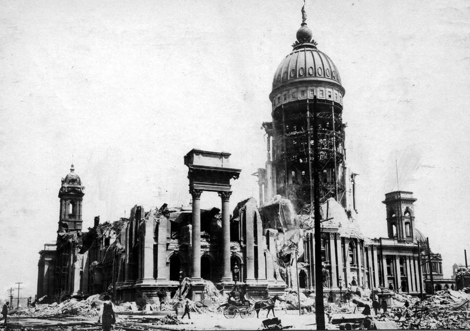 The remains of San Francisco City Hall.
