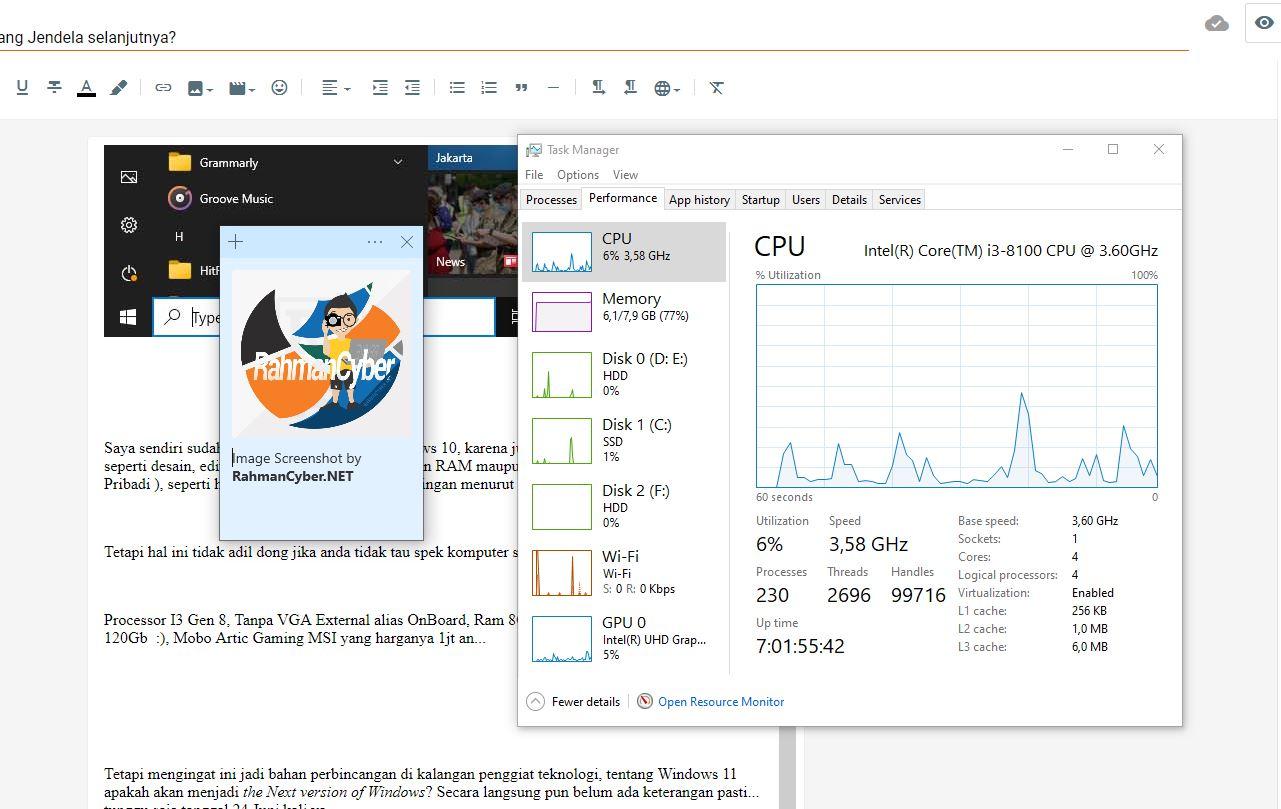Penggunaan Resource Windows 10
