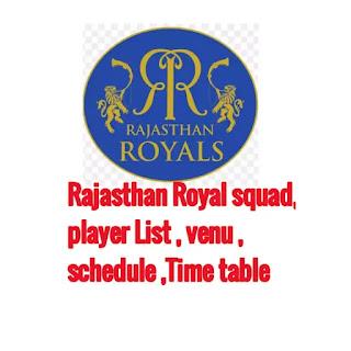 IPL 2020: Rajasthan Royal squad, schedule, venue