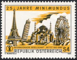 Austria 1984 Minimundus Model World Ferris Wheel Eiffel Tower