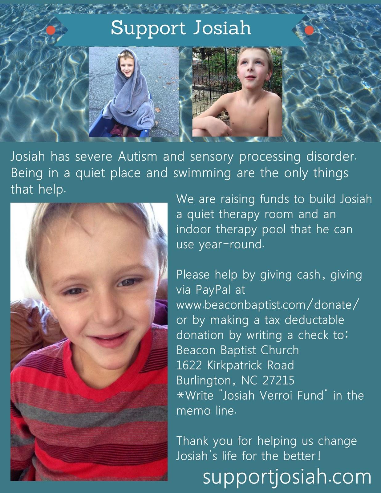 Support Josiah: February 2017
