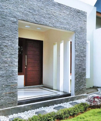 model tiang teras batu alam terbaru