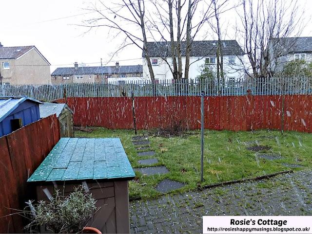 Snow falls in Scotland