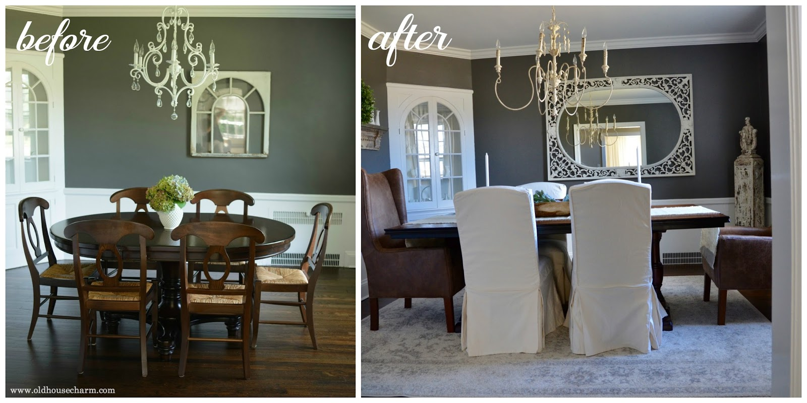 My Wall Color Is Called Kendall Charcoal And It By Benjamin Moore Above A Recent Before After Below Of The