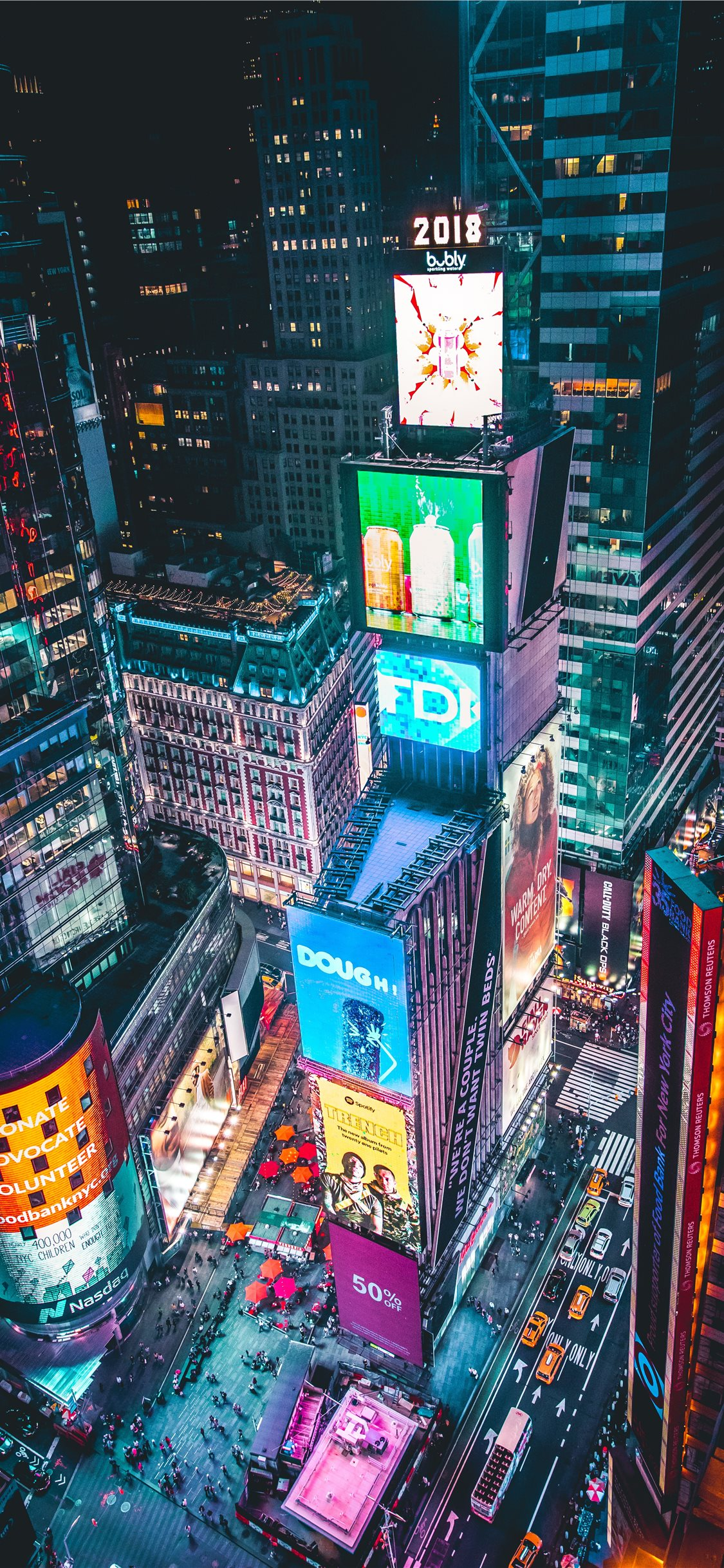 New York - Time Square arial view mobile wallpaper