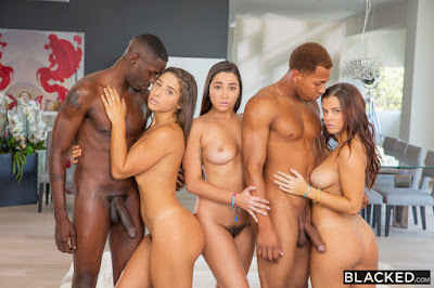 Karlee Grey, Keisha Grey and Abella Danger on Blacked