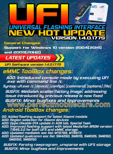 UFI Software Update v.1.4.0.1779 Latest Update Download (7/2/2020)