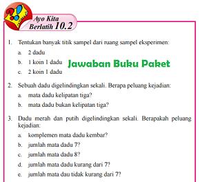 Kunci Jawaban Buku Paket Halaman 291 292 Ayo Kita Berlatih 10.2 Kelas 8 Matematika Semester 2
