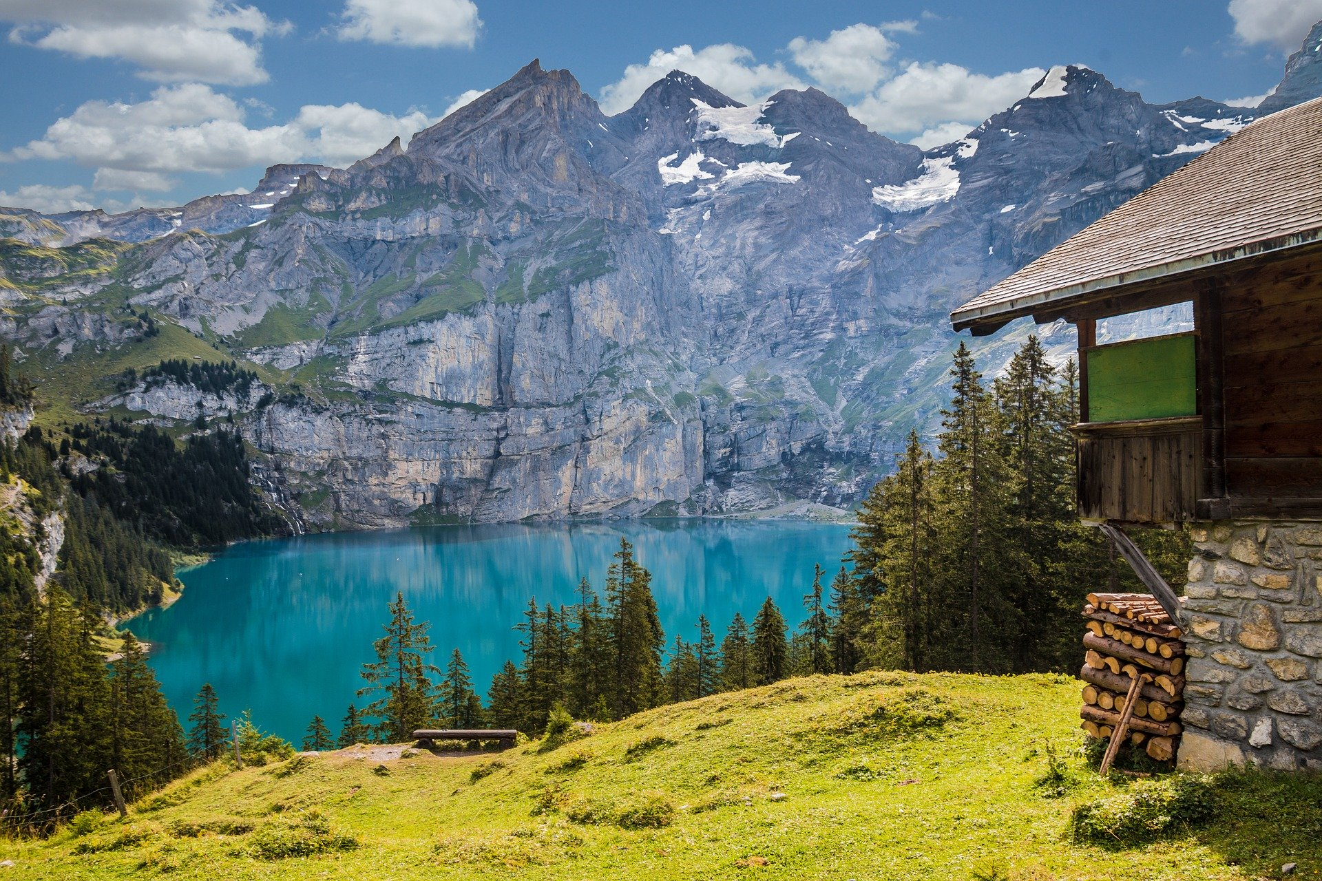 Hut Lake Switzerland
