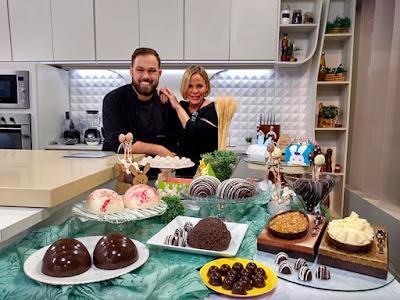 Claudete Troiano e o chef Roberto Augusto: minicursos fazem sucesso no programa - Divulgação TV Aparecida