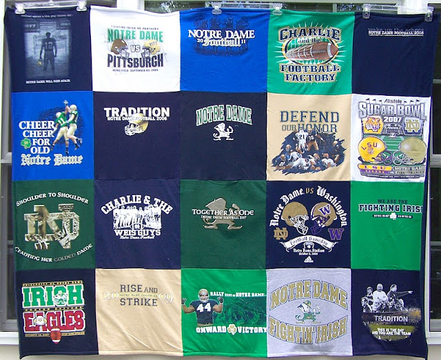 A Different T Shirt Quilt Stadium Blanket