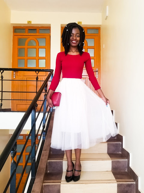 Holiday Outfit Idea Two: Tulle Skirt Outfit