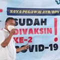 Tanpa Keluhan, Pegawai BPN Jember Lancar Terima Vaksi Tahap ke-2
