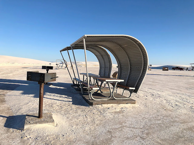 picnic table white sands national park new mexico