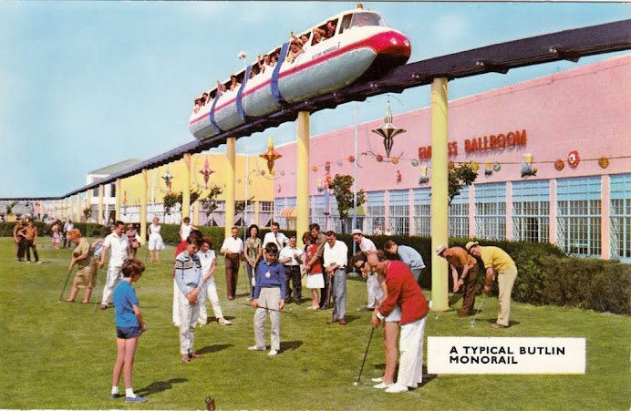 A Typical Butlin Monorail. Postcard S25. Skegness 1971