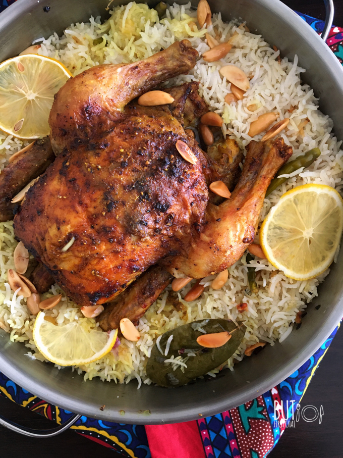 Yemeni Chicken Mandi Baked Smoky Chicken Rice