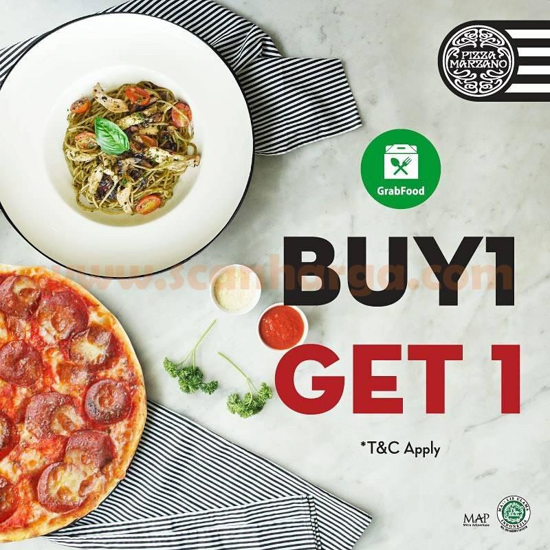 PIZZA MARZANO Promo Buy 1 Get 1 Free via GRABFOOD