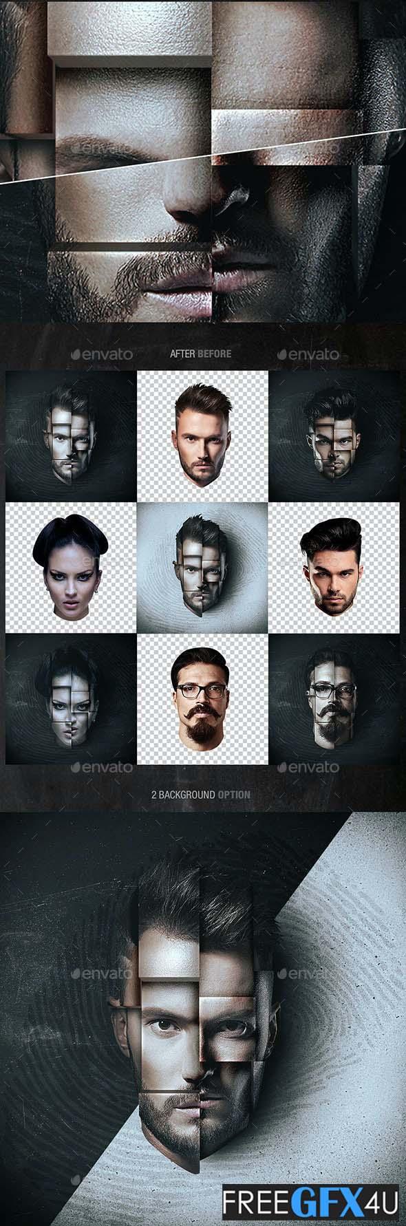 Graphicriver - 3D Face Mockup PSD Photo