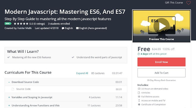 Modern Javascript: Mastering ES6, And ES7