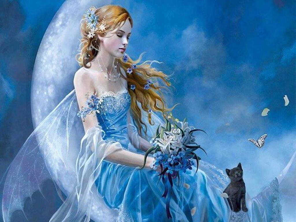 Angels Wallpapers For Desktop 3d: Beautiful Fairy Angel Wallpaper