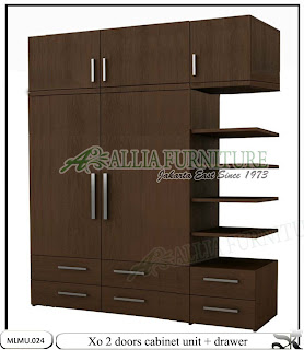 Lemari minimalis model unit cabinet Xo