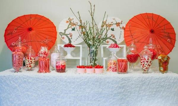 festa decoração vermelha