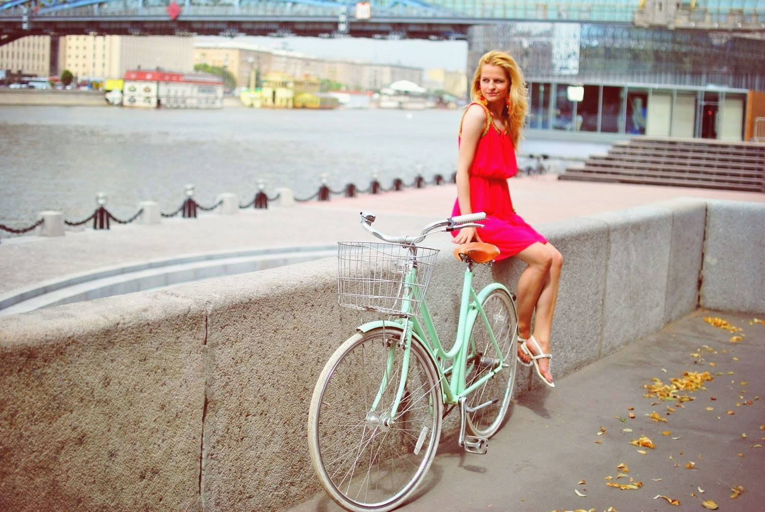 Look, summer street style, summer look , bicycle style, blog costa moda