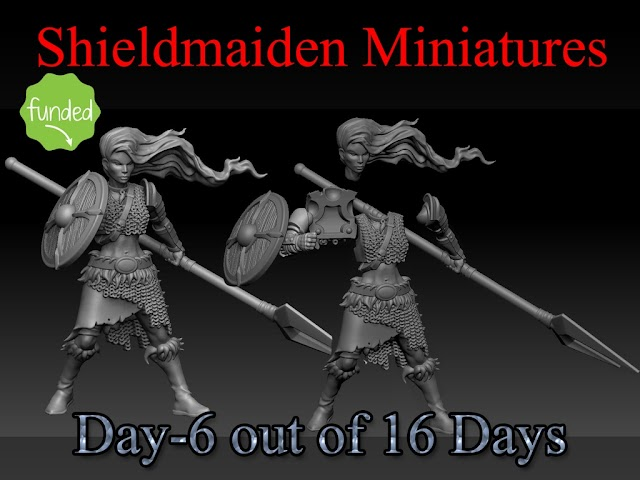 Shieldmaiden Miniatures Funded, with new stretch goals.