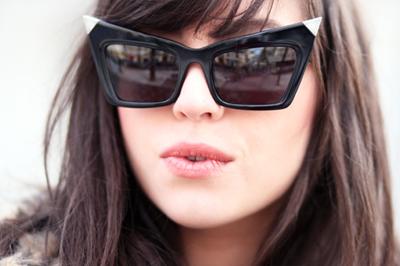 5a4040bd53 Love Today s Look  Alexander Wang Cat Eye Sunglasses