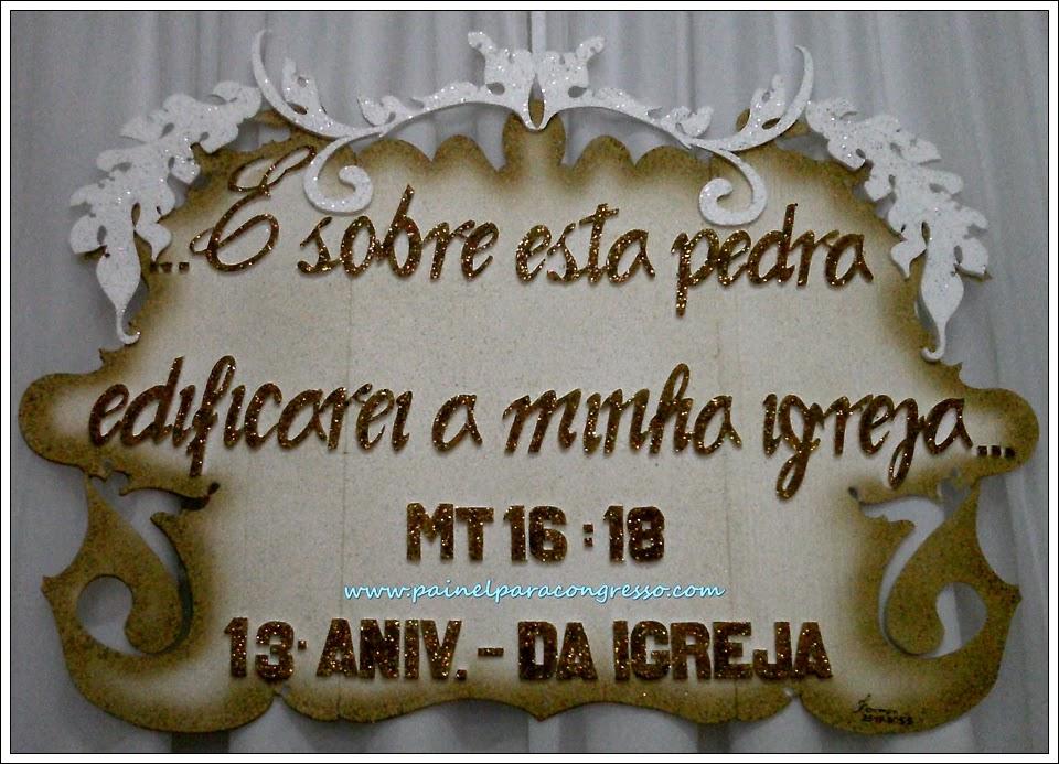 Decoração do aniversário da igreja   /   Mateus 16:18