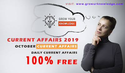Latest Current Affairs for Competitive Exams 2019