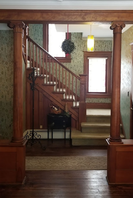 collonades and staircase 3 Elm St Newton NJ Authenticated Sears No 163 of Reuben Talmage