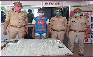 कानपुर नगर के थाना चकेरी पुलिस द्वारा अभियुक्त गिरफ्तार