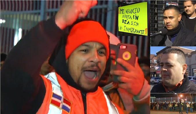 Dominicanos se unen a Un Día Sin Inmigrantes, cierran negocios y se movilizan en NY y NJ